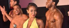 Jada Pinkett Smith Surrounded By Shirtless Men At 'Magic Mike XXL' Screening ... Jada Pinkett Smith  #JadaPinkettSmith