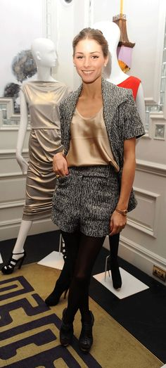Olivia Palermo looking lovely in this cute twin set