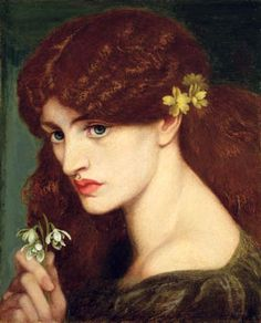 "Blanziflore (Snowdrops)- the painting was actually a version of Rossetti's ""Proserpine"", that he decided to cut down"