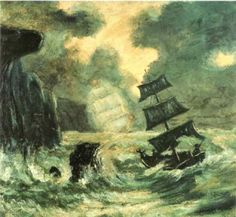 According to Admiral Karl Doenitz, U Boat crews logged sightings of The Flying Dutchman off the Cape Peninsula. For most or all of these crews, it proved to be a terrible omen. The ghostly East Indiaman was also seen at Muizenberg, in 1939. On a calm day in 1941, a crowd at Glencairn beach saw a ship with wind-filled sails, but it vanished just as it was about to crash onto the rocks.