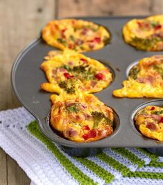Mini-Omelett-Muffins - New Ideas - New Ideas Tapas Recipes, Snack Recipes, Healthy Recipes, Healthy Food, Easy Baked Chicken, Baked Chicken Breast, Omelette, Vegetarian Recepies, Brazilian Dishes