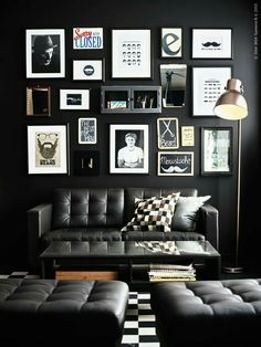 black wall art wall barbershop designbarbershop ideasblack - Barbershop Design Ideas