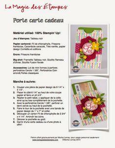 La magie des étampes 23 mai 2014 - Cartes - Scrapbooking - Stampin'Up