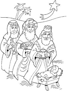 three wise men gifts coloring pages sketch coloring page