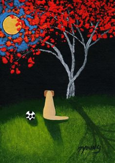 Yellow Lab Dog Soccer Art PRINT by Todd Young by ToddYoungArt, $12.50