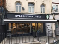 Recent Awning and side sheet installation in London for Starbucks