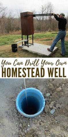 You Can Drill Your Own Homestead Well - In this podcast you are going to hear from a man who is using pressurized air to drill wells. Its a very interesting interview. You will find that there are more options out there to getting your hands on that prist Off Grid Survival, Survival Food, Homestead Survival, Outdoor Survival, Survival Prepping, Survival Skills, Survival Hacks, Emergency Preparedness, Survival Shelter