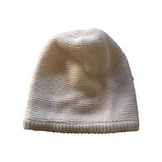 Pre-owned American Retro Hats (€36) ❤ liked on Polyvore featuring accessories, hats, headwear, beanie cap hat, beanie hat, american retro, white beanie and white beanie hat