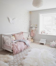 pink and grey toddler girl bedroom - CLICK THE IMAGE for More Bedroom Decor Pics. #bedroomdecor #bedroomdesign