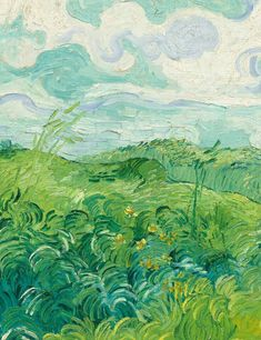 Vincent Van Gogh. Field with Green Wheat, 1890.
