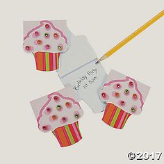 Cupcake Notepads With Gems. Our Cupcake Notepads With Gems make sweet party favors for girls' birthday parties. Each notepad features gems that look like ...