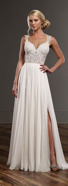Simple Elegant Beach Wedding Dress for Summer