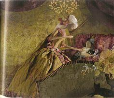 çizgili masallar: Peau d'Âne by Miss Clara Miss Clara, Paper Artist, Art Dolls, Illustration Art, Terra, Mixed Media, Painting, Pictures, Paper