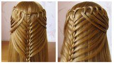 Coiffure avec tresse  Belle coiffure facile à faire cheveux mi long / l...