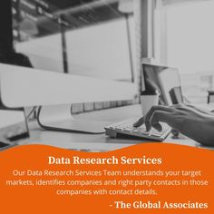 Our Data Research Services Team understands your target markets, identifies companies and right party contacts in those companies with contact #dataresearchservices #dataresearch #b2bleadgeneration #leadgenerationcompanies #appointmentsettingservices