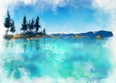 Lago montagna paint4wall