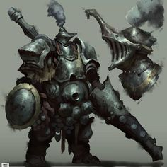 ArtStation - Week 29 of works -Dark knights-, Hue Teo Fantasy Armor, Medieval Fantasy, Dark Fantasy, Character Concept, Character Art, Concept Art, Space Opera, Environment Painting, Batman Comic Art