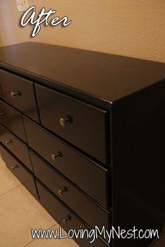 Easy DIY refinishing a dresser