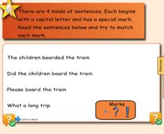 4 Types of Sentences - Learn about the 4 types of sentences; interogative, exclamatory, imperative, declarative  Resource type: SMART Response question set  Subject: English as a Second Language,  English Language Arts  Grade: Grade 3,  Grade 4,  Grade 5,  Grade 6