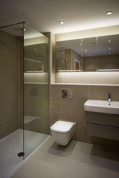 House in Hiltingbury II: modern Bathroom by LA Hally Architect Small Toilet Room, Small Bathroom Layout, Small Bathroom With Shower, Bathroom Shower Designs, Bathroom Suites Uk, Bathroom Design Layout, Washroom Design, Bathroom Design Luxury, Small Toilet Design