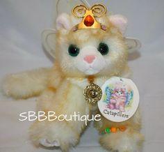 """NEW 10"""" Aurora 2000 Catapillers Plush Yellow Cat Solana Wings Jewelry Stuffed #Aurora #CattapillerCat"""
