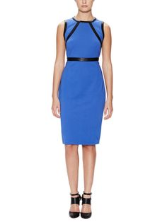 Ponte Sheath Dress with Leather Trim from Decorative Accessories: Up to 80% Off on Gilt