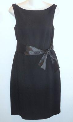 66802baa0fe6 Talbots Black Crepe Lbd Mid-length Cocktail Dress Size Petite 8 (M). Tradesy