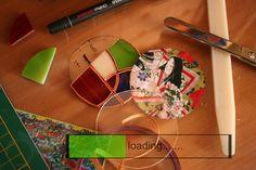 Working to a new pandant! #japanstyle #geisha #ideogramma #Tiffanytecnique #glasspendant
