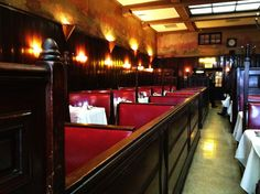 Musso and Franks - have always loved the red booths
