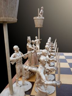 I must confess that, although I Identify myself more with a pirate, than with a Spaniard, for this pirate chess set I´ve chosen a Spanish crew among many others, because they were famous for their ...