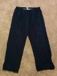 Nike ladies black athletic track pants w/ cotton liner, XL 16-18, #3691 #Nike #PantsTightsLeggings