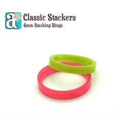 One Classic Stacker - FLAT, 4mm Stacking Ring, Resin Ring in Solid Colors, Handmade Eco-Resin Ring, 4mm Width, Sizes 5-11, Choose Color - pinned by pin4etsy.com