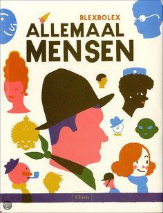 De illustrator liet zich inspireren door de grafiek uit de jaren '50 en '60 en werd daarmee bekroond met de prijs voor het beste boekdesign ... Allemaal Mensen - Blexbolex