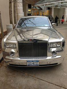 Chromed Rolls Royce
