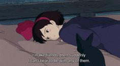 "You're an introvert, darling. gotham: "" Kiki's Delivery Service (1989) """