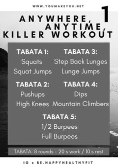 Fat burning tabata workout you can do without any equipment, and little time
