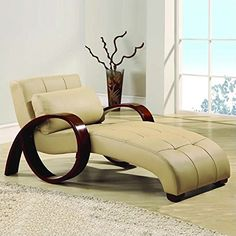 Global Furniture Bonded LeatherMDF Chaise Lounge CappuccinoMahogany Handle *** Click on the image for additional details. (Amazon affiliate link)