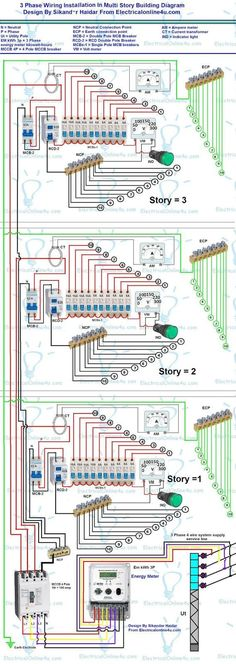3 phase wiring installation diagram