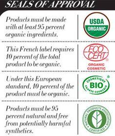 Organic beauty product seals