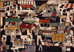 Joaquin Torres-García, New York Street Scene, c. 1920