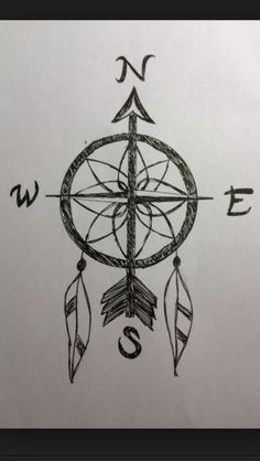 Dream catcher compass