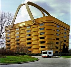 The Basket Building (Ohio, United States)~~made by the Longaberger Basket Company