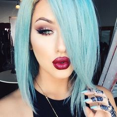 Pastel blue #hair #bright #dyed