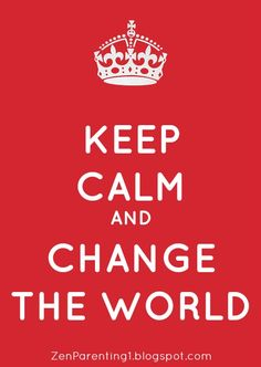 Keep calm and carry on?  No. Raise hell and change the world?  No. Those arent the only two extremes.  We can maintain our cool while making a difference.  Save your sanity and the world!