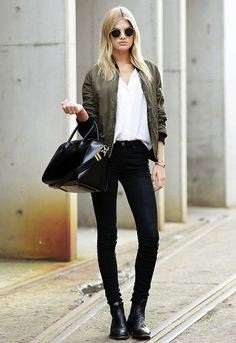 Model-Off-Duty: Megan Irwin Is Downtown Cool In A Bomber Jacket | Le Fashion | Bloglovin