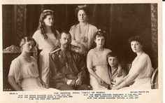 The Imperial Royal Family of Russia (Nicholas II)  1914  Real photograph.