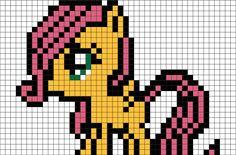My Little Pony Fluttershy Pixel Art from BrikBook.com #MyLittlePony #Fluttershy #Pegasus #Pony #pixel #pixelart #8bit Shop more designs at http://www.brikbook.com