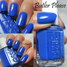 royal blue essie butler please #thebeautybuffs