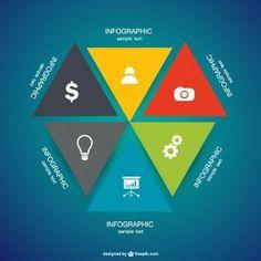 Infographic triangular design