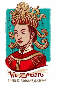 #100Days100Women Day 92: Wu Zetian was the only Empress Regnant of China in its 4,000 year history. Wu was born into a wealthy family, but additionally her father encouraged her to read and become highly educated. Wu worked her way up through the...